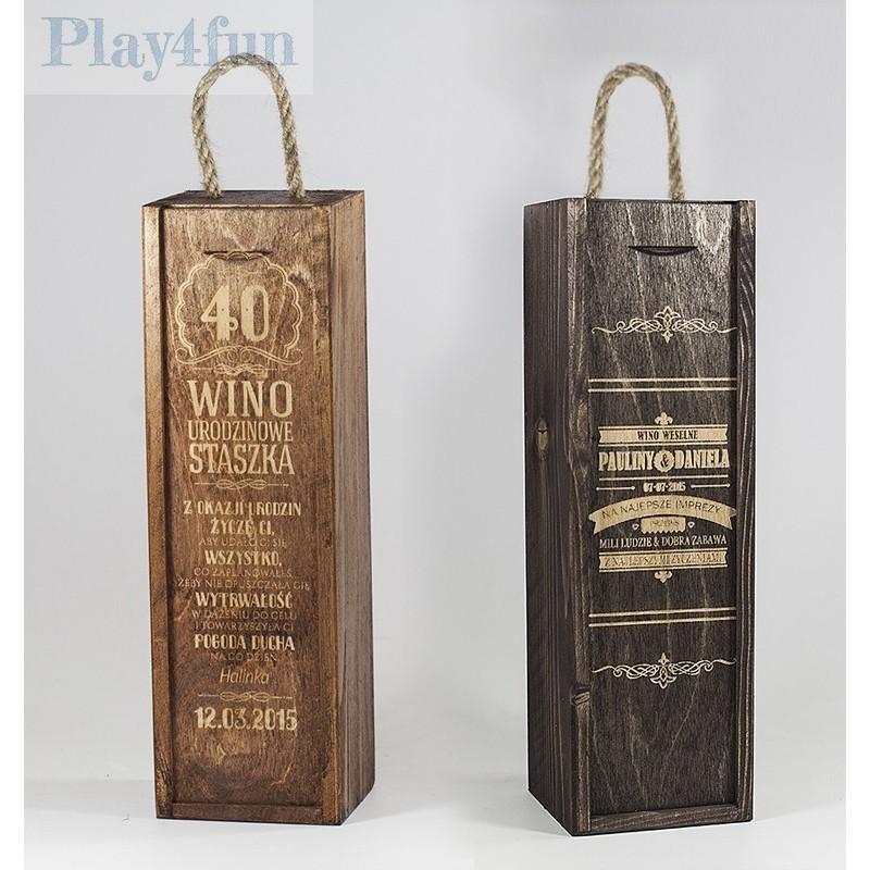 Dźwiękowe Pudełko Na Wino Z Indywidualnym Grawerem
